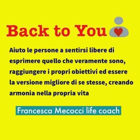 """""""BACK TO YOU"""" life-coaching"""
