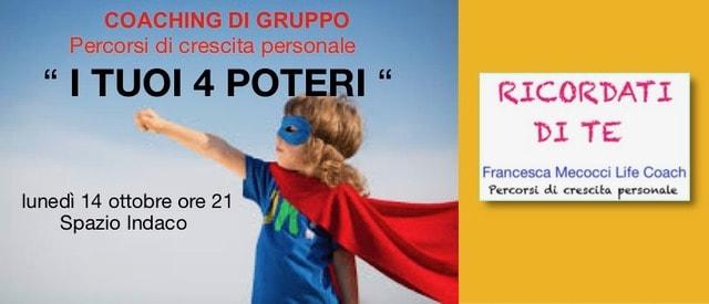 I TUOI 4 POTERI: COACHING DI GRUPPO